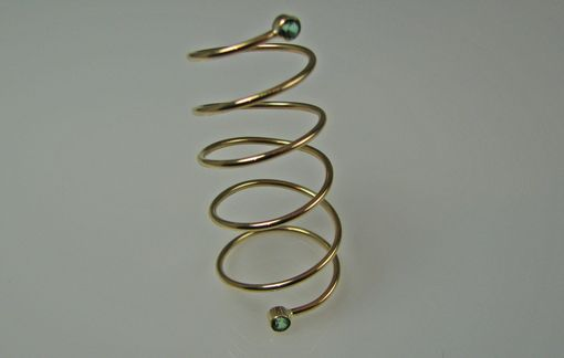 Custom Made Cypress Freeform Tapered Spiral Ring
