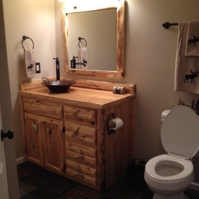 Custom Rustic Bathroom Vanities custom rustic cedar bathroom vanityking of the forest