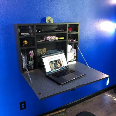 Custom Made Home Office Wall Mounted Desk