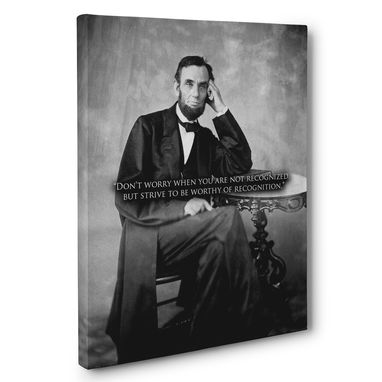 Custom Made Recognition Abraham Lincoln Motivation Quote Canvas Wall Art