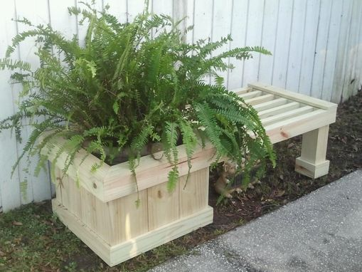Custom Made Planter Bench