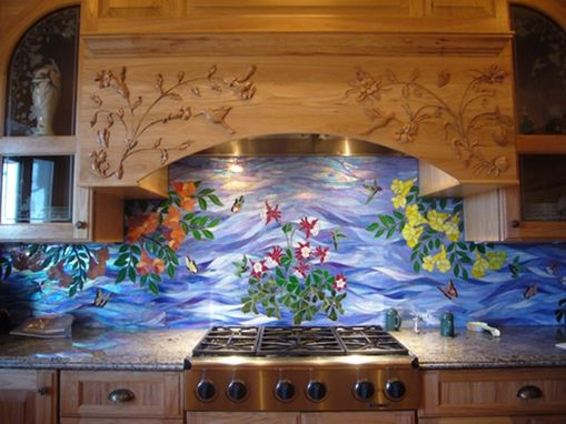 Custom Made Kitchen Range Hood/Island Carving
