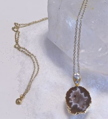 Custom Made Raw Mineral Jewelry-*Geode Necklace