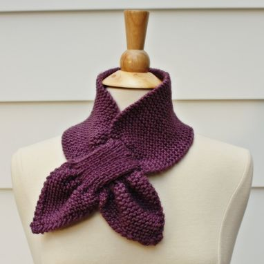 Custom Made Knit Pattern Keyhole Scarf Pattern - Unique No Slip Warm Winter