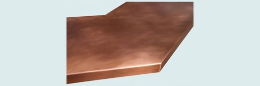 Custom Made Copper Countertop With Gullwing Shape