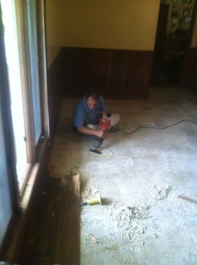 Custom Made Dining Room Floor Water Damage Remodel - Homer, Louisiana
