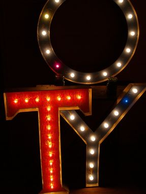 Custom Made Any Size Color Shape Bulbs Large Movie Theater Marquee Letter Vintage 3 Feet 25 Bulbs Max