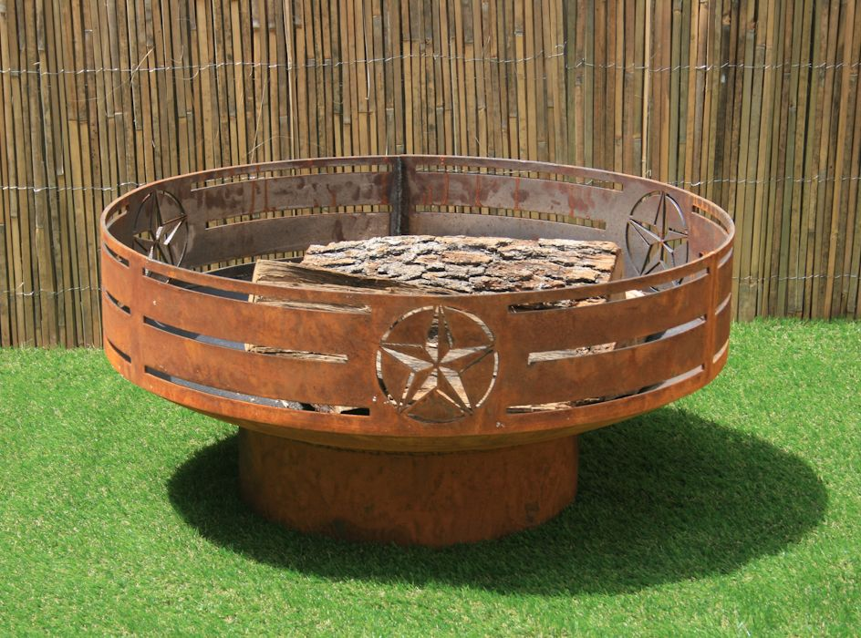 Custom Made Texas Fire Pit. Steel Firepit. Backyard Fire Bowl/Kettle. Metal - Buy A Custom Made Texas Fire Pit. Steel Firepit. Backyard Fire Bowl