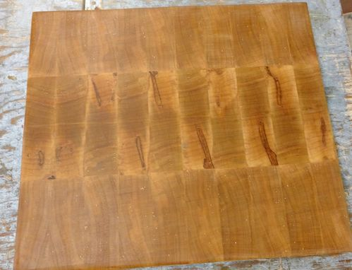 Custom Made Spalted Maple End Grain Cutting Board