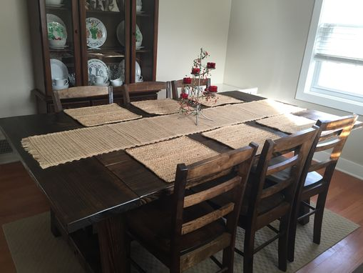 Custom Made Rustic Dining Room Table