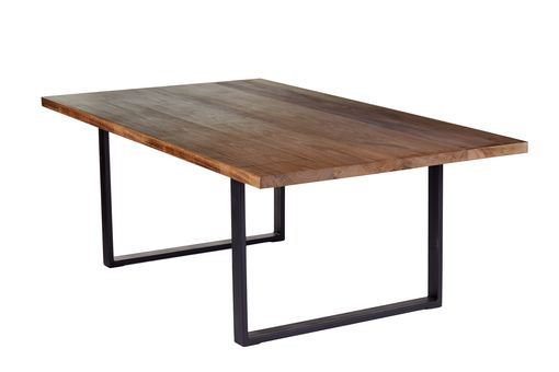 Custom Made 12 Foot Conference Table, Modern Industrial