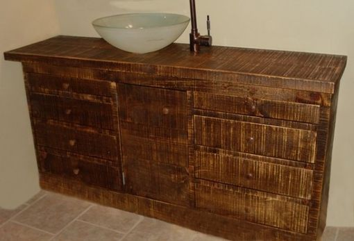 Custom Made Reclaimed Wood Bathroom Vanity