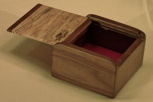 Custom Made Keepsake Box With Slide Lid