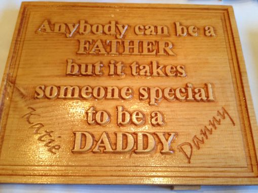 Custom Made Fathers Day Memory Box