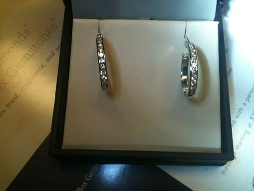 Custom Made Diamond Hoop Earrings
