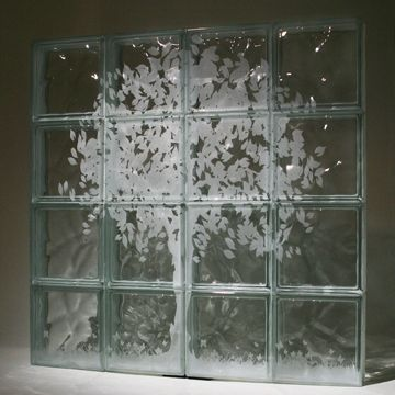 Custom Etched Glass Block Mural By Columbus Glass Block