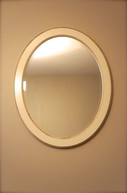 Custom Made Solid Wood Oval Wall Mirror