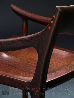 Custom Made Maloof Low-Back Dining Chair In Wenge