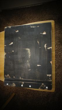 Custom Made Black Wash Wooden Birch Portfolio With 10 Sheet Protectors & Custom Engraving