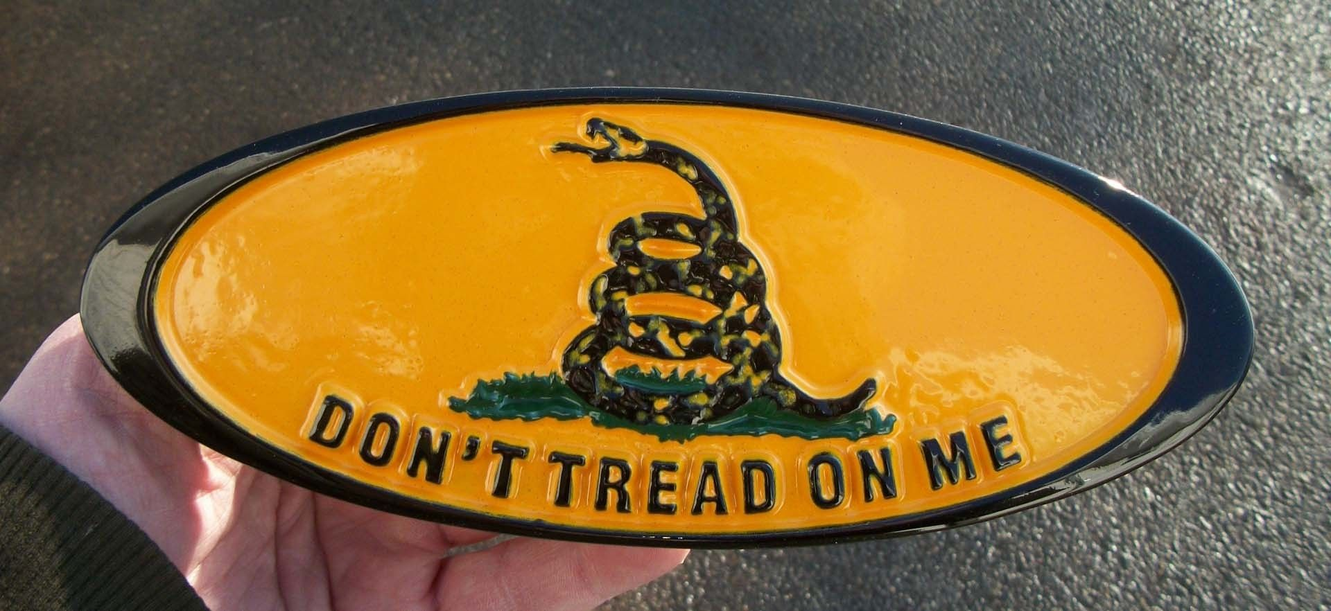 Custom Made Dont Tread On Me Custom Grille Emblem For Ford Super Duty F