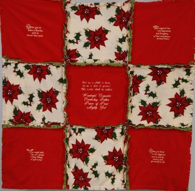 Custom Made Christmas Throws For The Couch Or Recliner