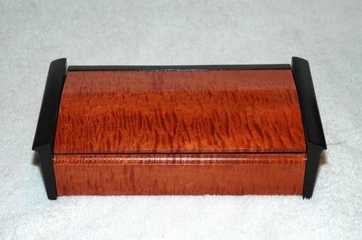 Custom Made Dyed Curly Maple Storage Box
