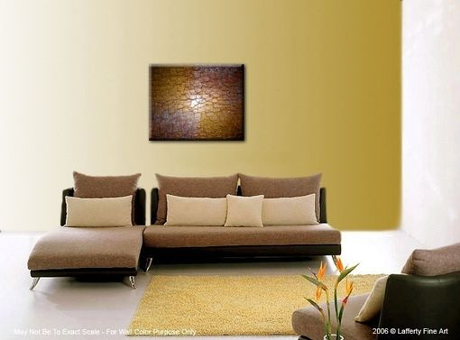 Custom Made Abstract Art Gold Metallic Sculptured Canvas Contemporary Palette Knife Painting