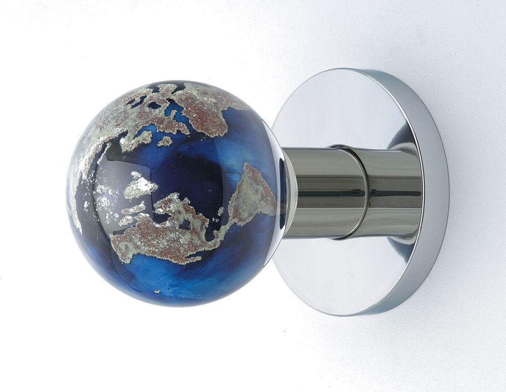 Glass Globe Door Knob handmade world globe doorknobout of the blue design studio
