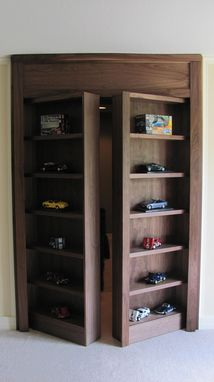 Custom Made Display Case With Secret Doorway To Hidden Room