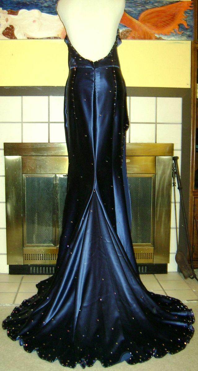 Hand Made Jessica Rabbit Style Silk Satin Gown With Swarovski ...