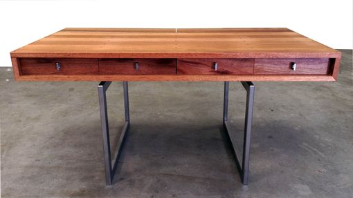 Custom Made Mid Century Modern Mahogany Desk