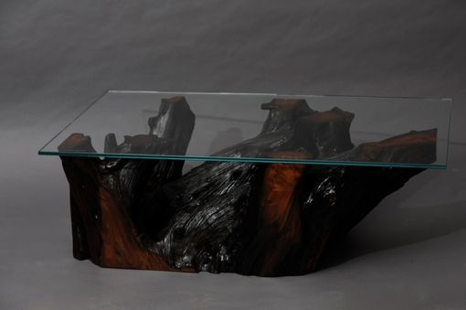 Custom Made Reclaimed Old Growth Redwood Root Coffee Table