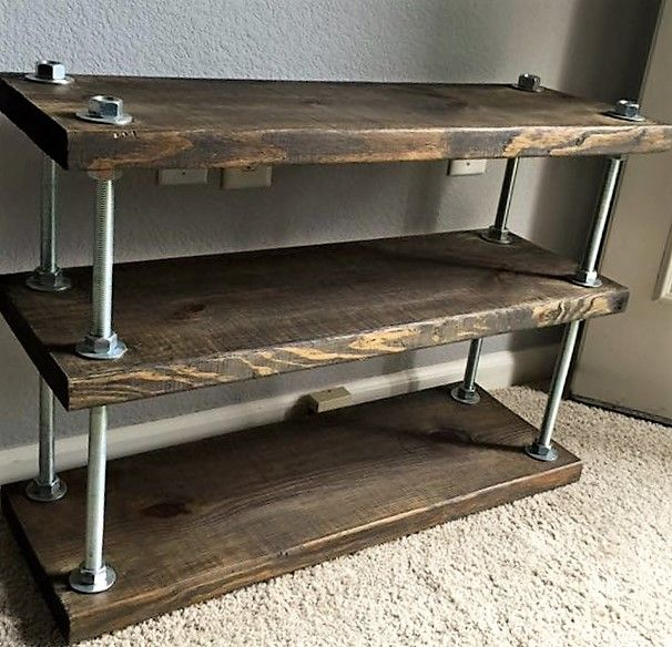 best sneakers 329ed dc346 Hand Made Industrial Rustic Barnwood Shelving Unit by ...