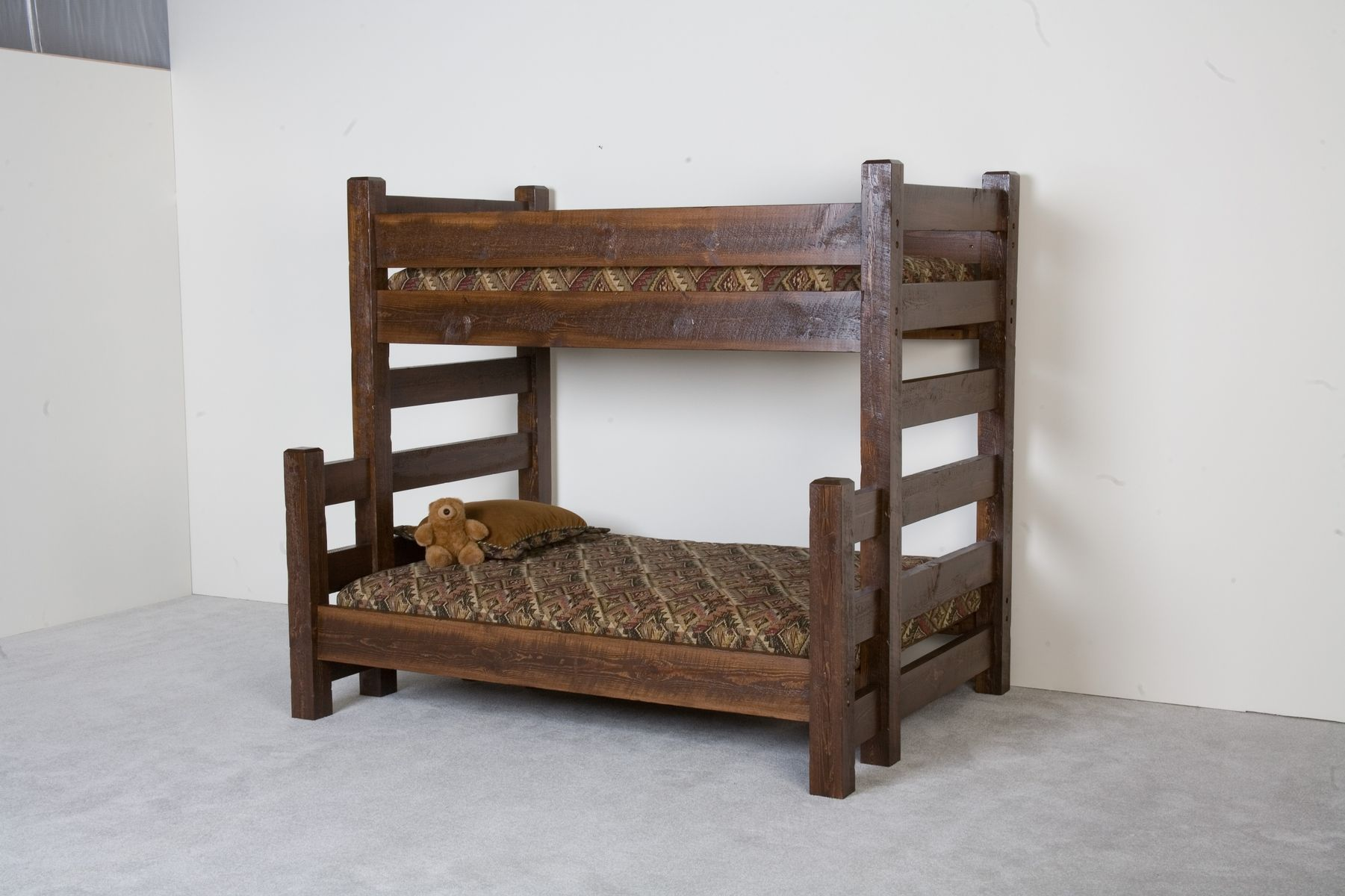 Hand Made Barnwood Bunk Bed By Viking Log Furniture