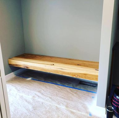 Custom Made Floating Entryway Bench