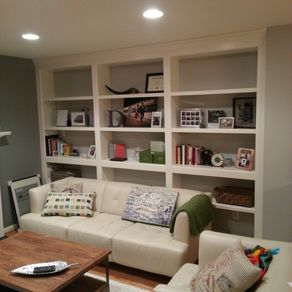 Built In Bookshelves With Adjule Shelves