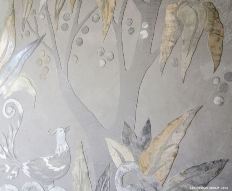 Custom Made Raised Venetian Plaster Murals