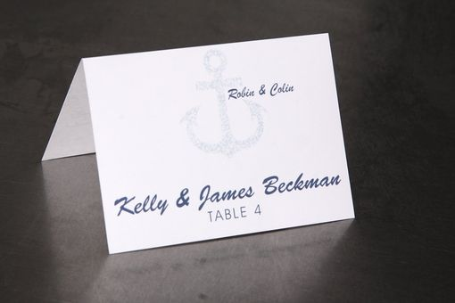 Custom Made Wedding Place Cards - Beach Anchor - Escort Cards Favor Tag Custom Designed