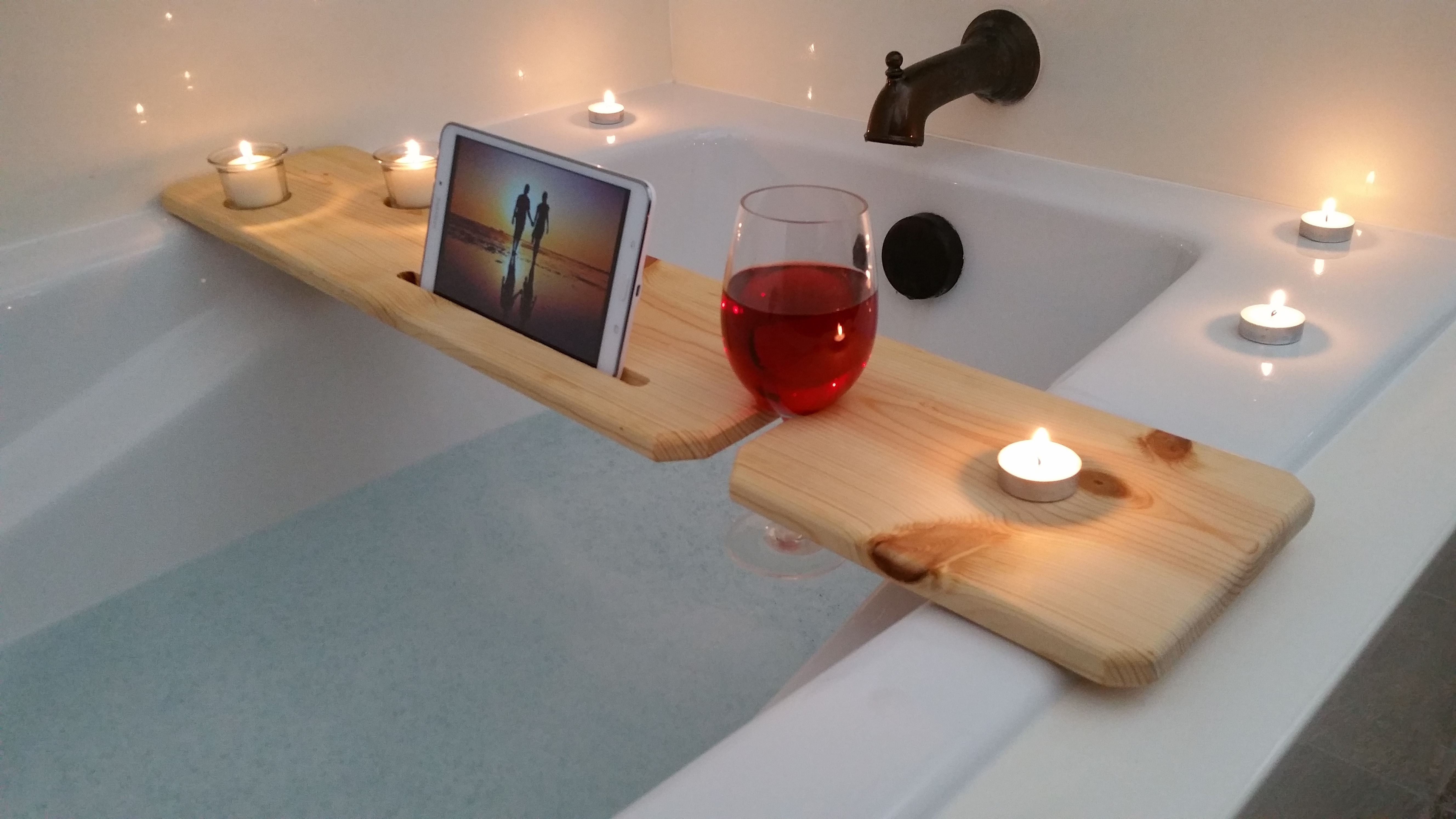 Buy a Hand Made Bath Tub Tray - Natural, made to order from Sliver ...