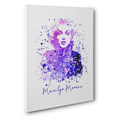 Custom Made Marilyn Monroe Splatter Canvas Wall Art