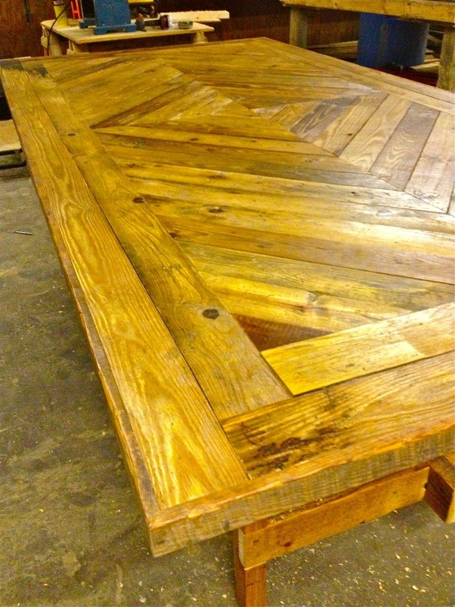 Handmade Reclaimed Old Wood Diamond Design Dining Table by Little ...