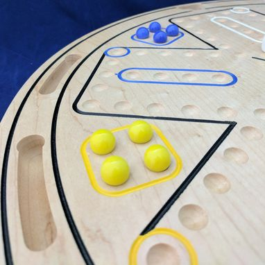 Custom Made Hanging 6 Player Wahoo / Aggravation Game Board