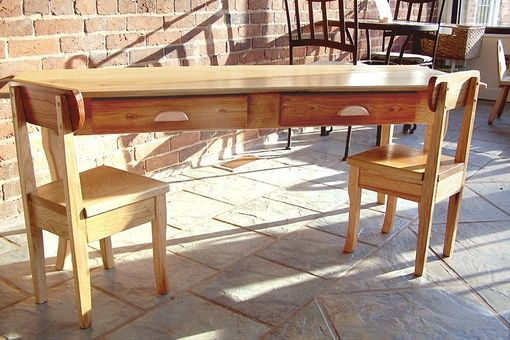 Custom Made Barnwood Furniture Child's Table And Chairs