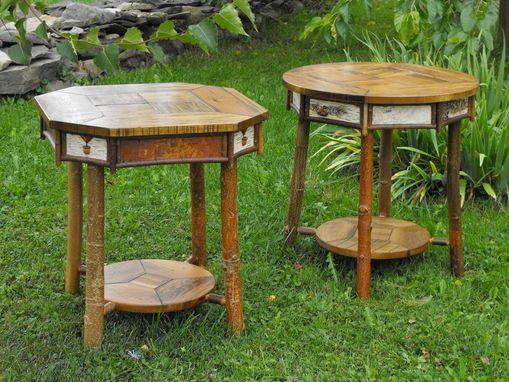 Custom Made Adirondack End Tables