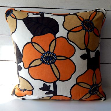 Custom Made Vintage Linen Bohemian Floral Pillow