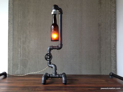 Buy A Custom Industrial Desk Lamp Historic Beer Bottle