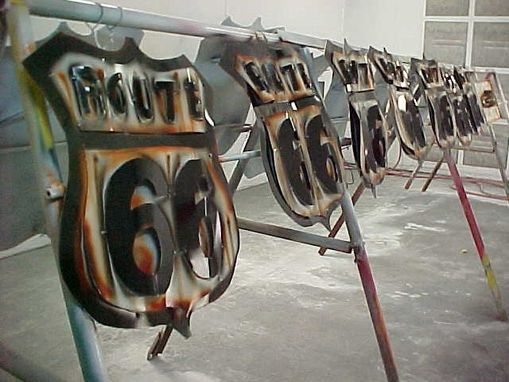 Hand Made Custom Sheet Metal Wall Art Signs And