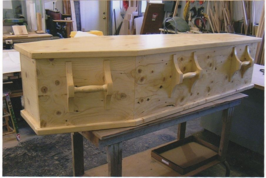 Hand Made Wood Casket For Natural Or Green Burial Natural