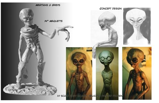 Custom Made Life Size Aliens