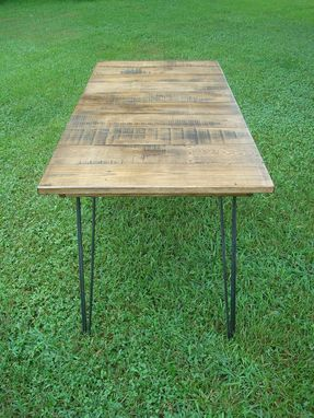 Custom Made Reclaimed Wood Table With Hairpin Legs Ready To Ship